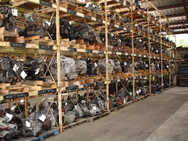 Inside our warehouse: a view of our many available used engines